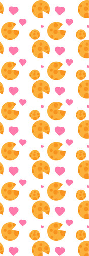 Cheese and Hearts Pattern Classic
