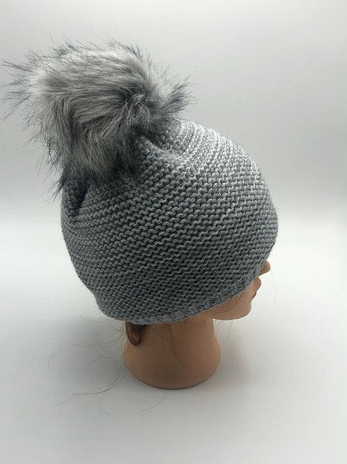 Mütze grau mele