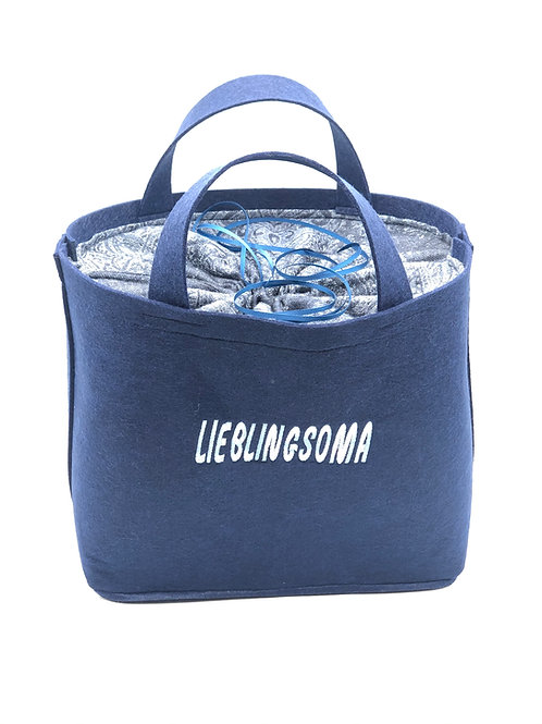 Tasche Lieblingsoma marine