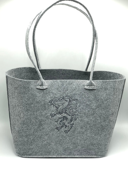 Einkaufstasche XL Filz Panther grau