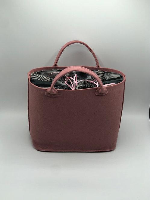 Tasche Filz mit grau