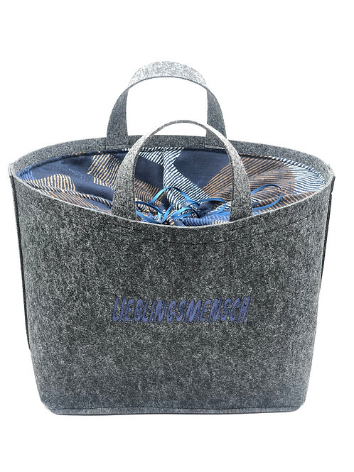 Tasche Lieblings  blau/karriert