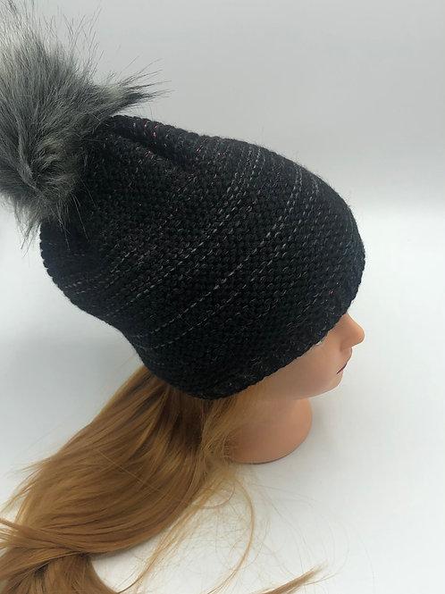 Mütze schwarz mele