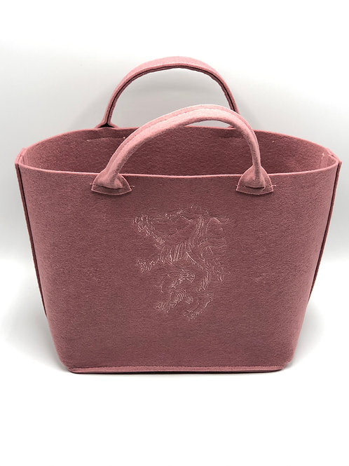 Einkaufstasche Filz Panther rose