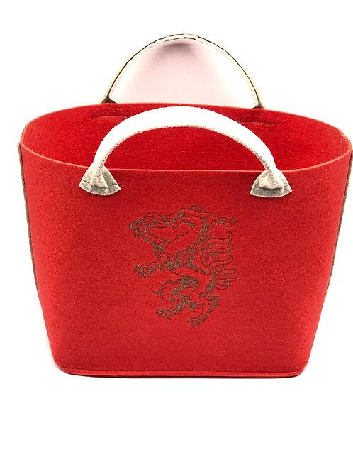 Einkaufstasche Filz Panther rot