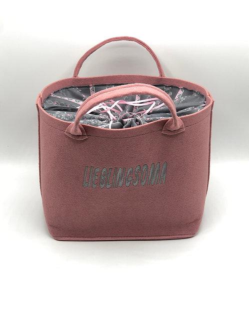 Tasche Lieblingsoma silber