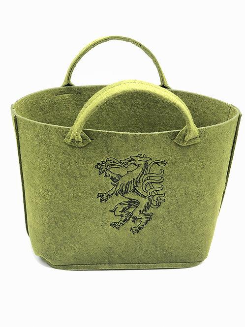 Einkaufstasche Filz Panther schwarz