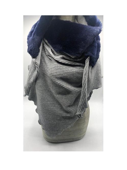 Halstuch grau-marine