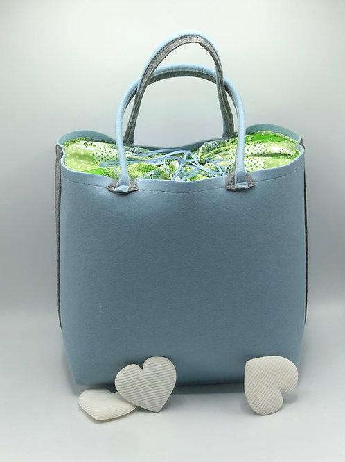 Tasche  Filz Big Bag blau