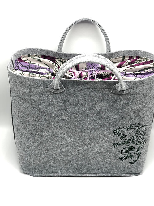 Tasche Big Bag Grau Mele