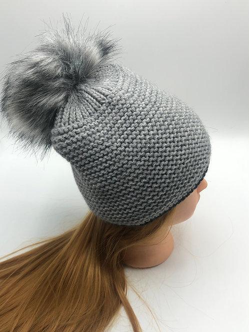 Mütze grau anthra