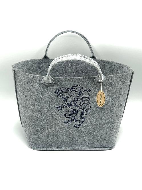Einkaufstasche Filz Panther marine