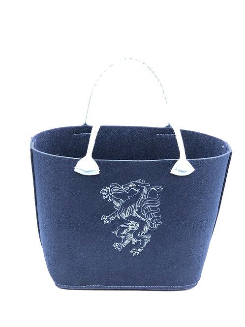 Einkaufstasche Filz Panther blau