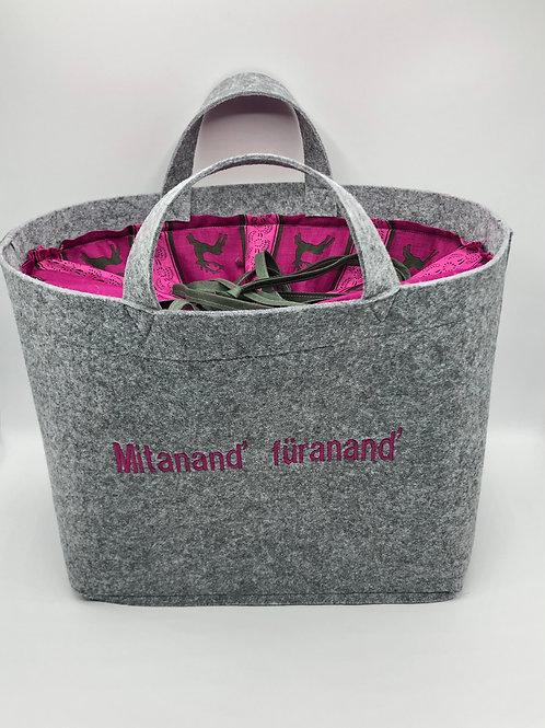 Tasche Filz mit pink