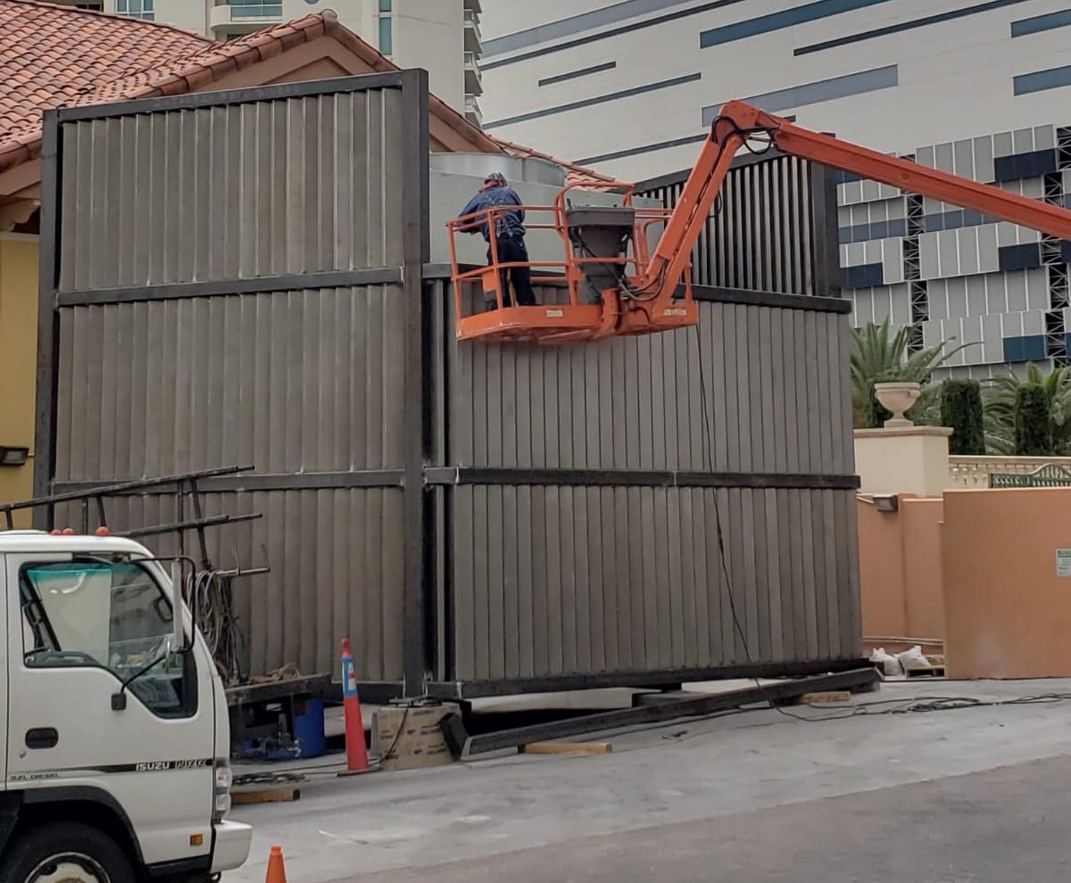 AirCondition Enclosure Las Vegas - Intrepid Metal Works Inc.