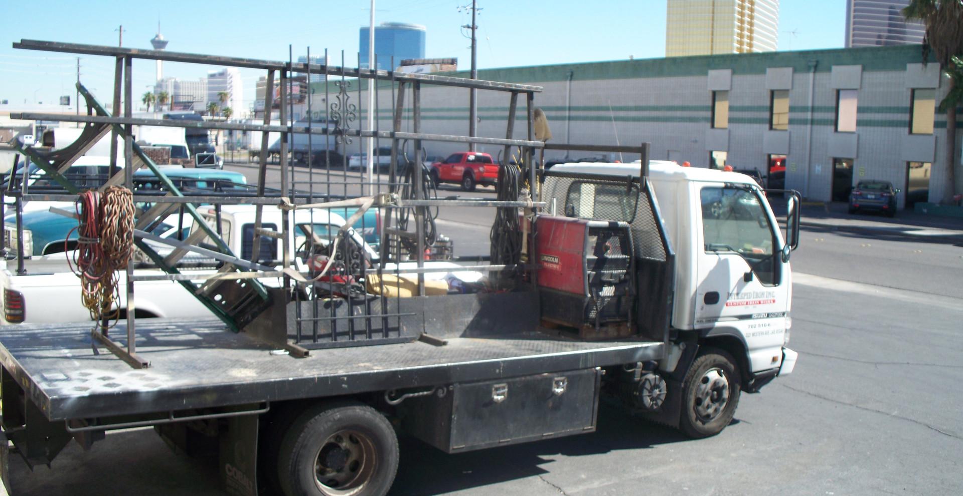 Simple Picket Door Las Vegas - Intrepid Metal Works Inc.
