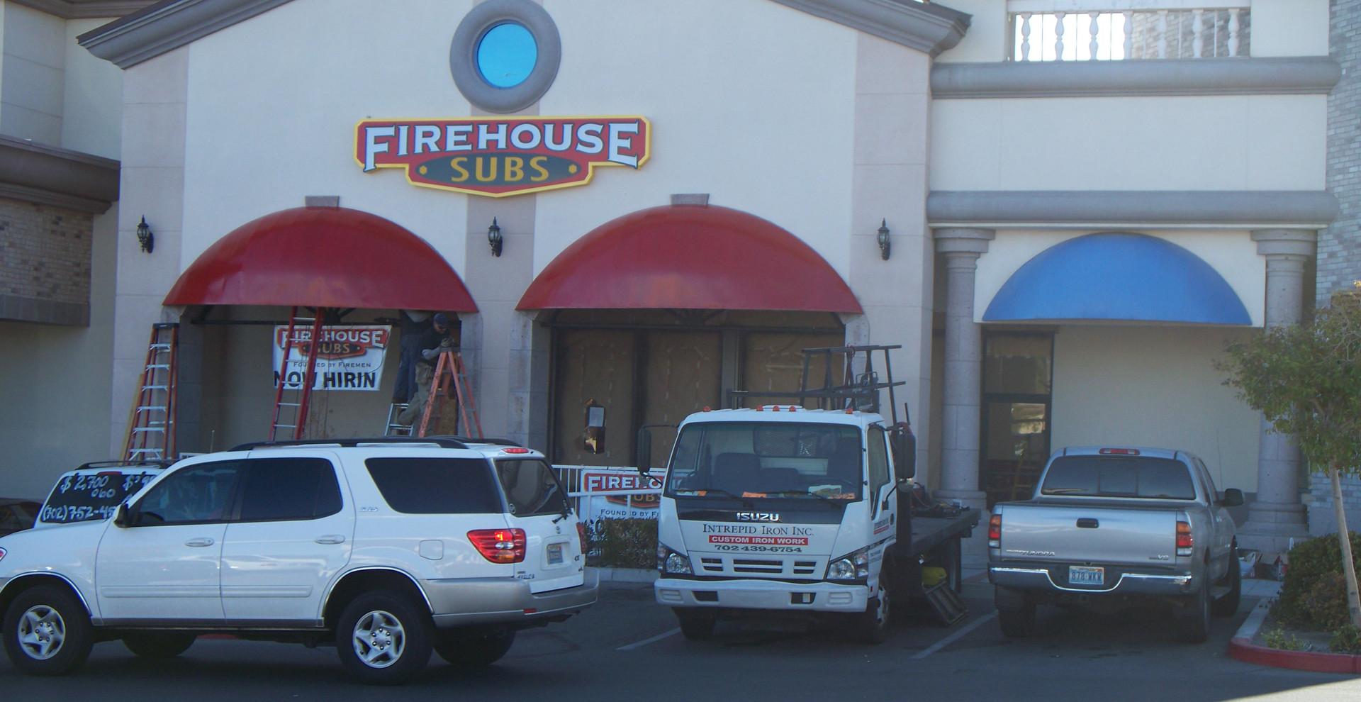 Awning FireHouse Subs Las Vegas - Intrepid Metal Works Inc.