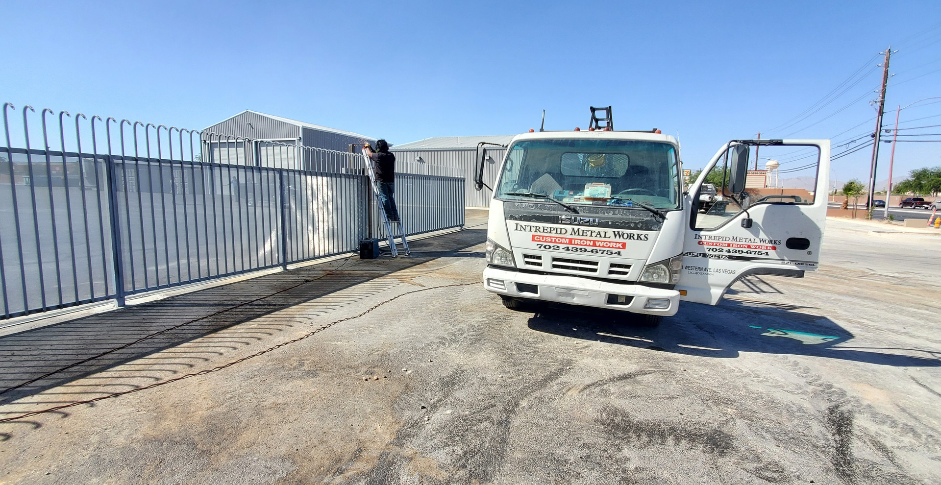 Commercial Tall High Security Fences Las Vegas - Intrepid Metal Works Inc.