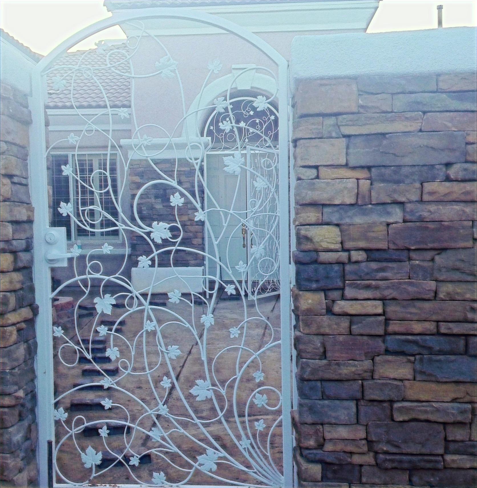 Courtyard Gates Las vegas - Intrepid Metal Works Inc.
