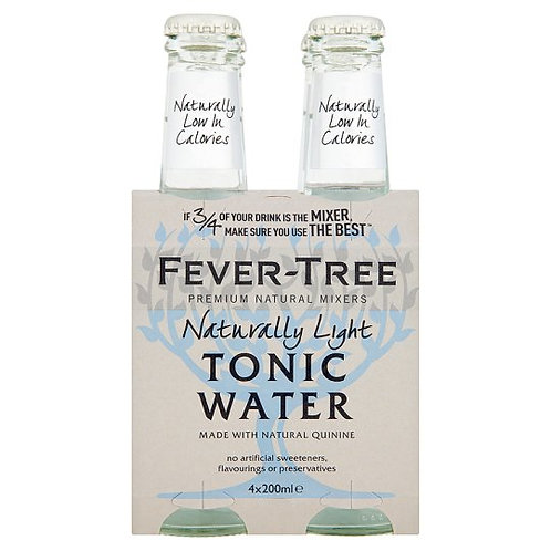 Fever Tree Naturally Light Tonic Water 4 Pack Sleeve