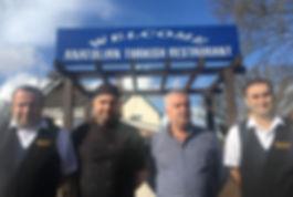 Photo of management team of turkish restaurant in bishops Waltham