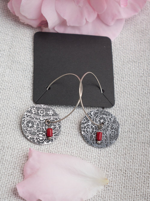 Thread of Red Earrings