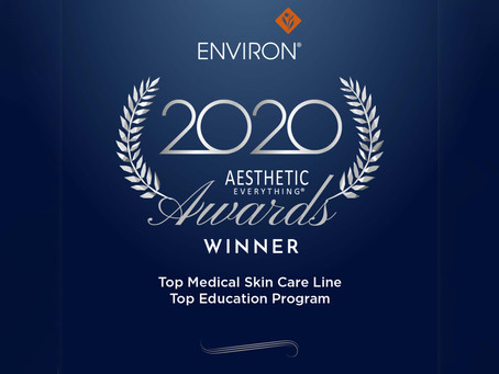 "Environ® Skin Care lights up Times Square once again as ""Top Medical Skin Care Line"""