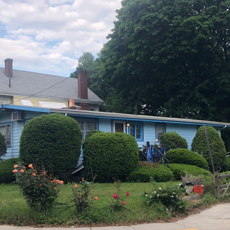 The Blue House on Corey Road - Spring 2018