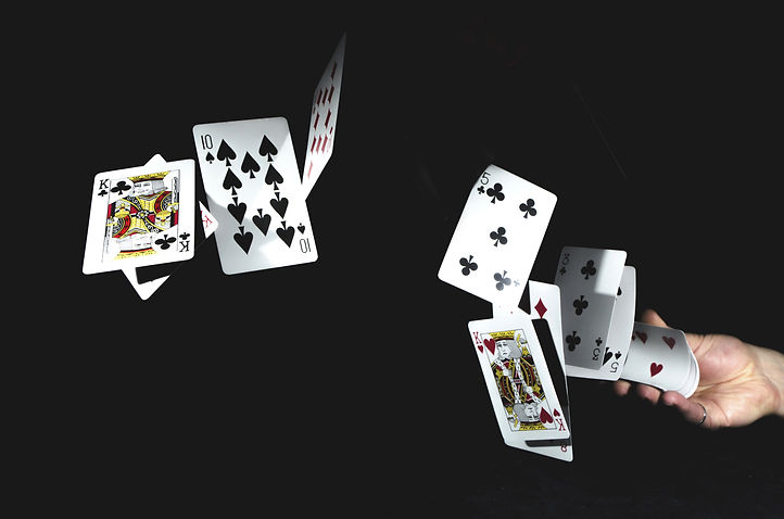 Flying playing cards