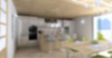 render cucina openspace