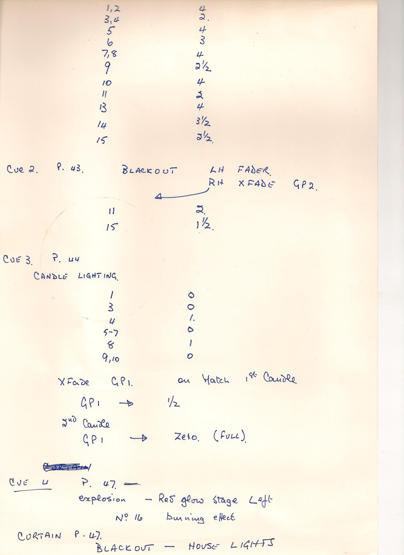 SM's cue sheet 2