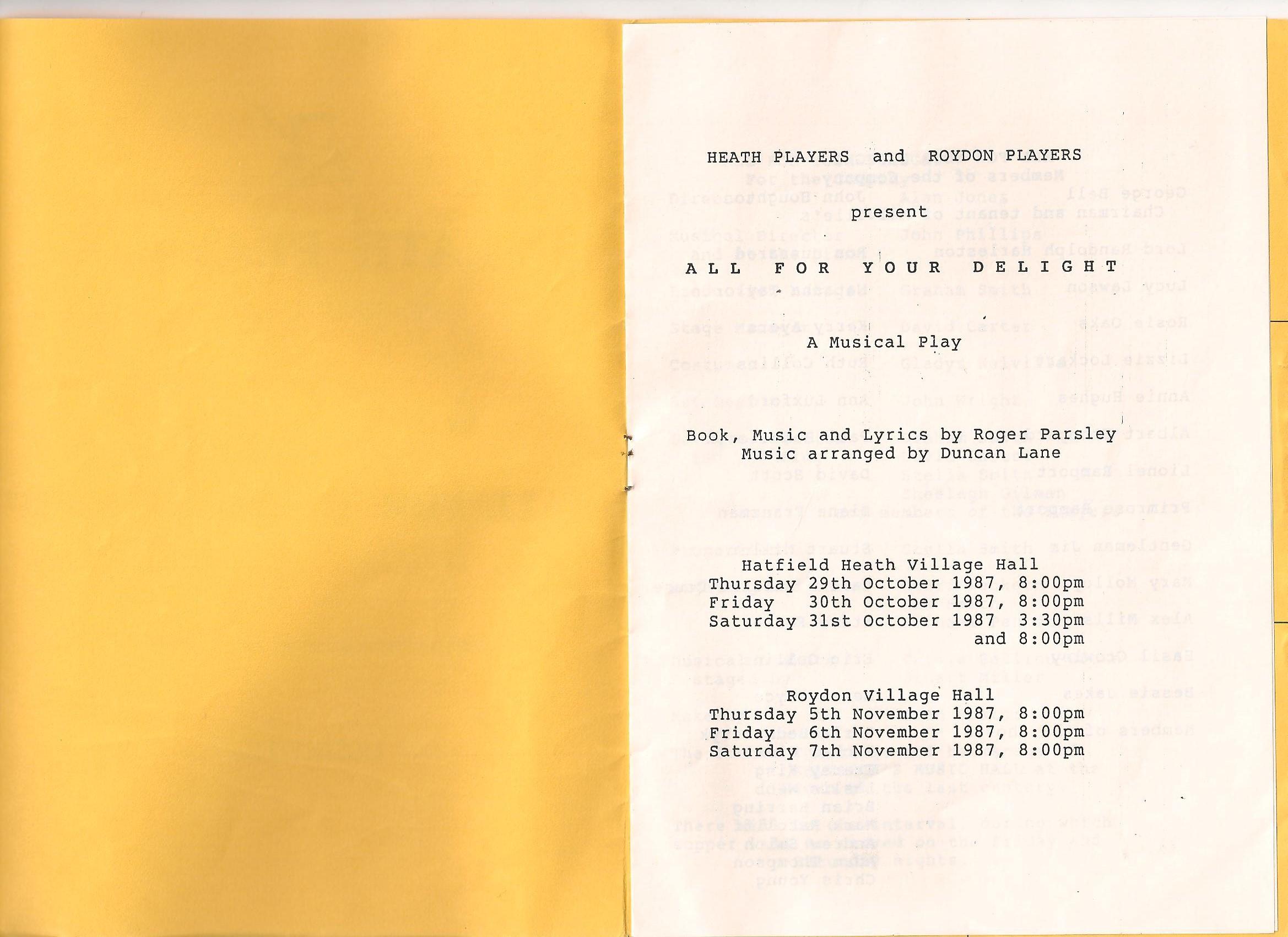 Programme 2