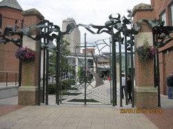 Woking-gates outside the theatre