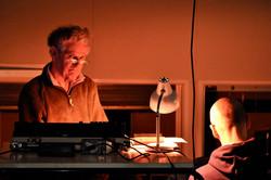 Derek Foster at the lighting desk