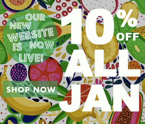 The Thoughtful Fruiter Online Shop is Live! 10% off for the whole of Jan!