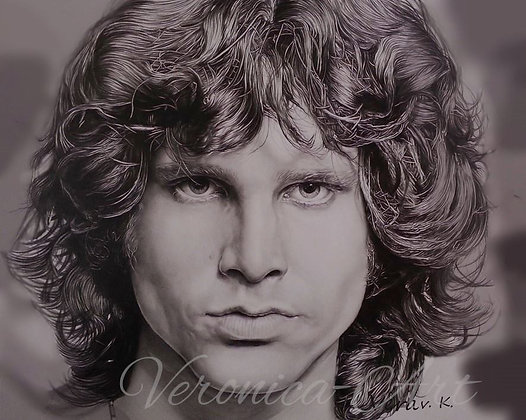 JIM MORRISON (DRY BRUSH PORTRAIT)