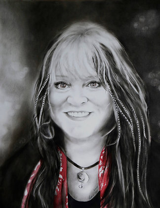 MELANIE SAFKA (DRY BRUSH PORTRAIT)