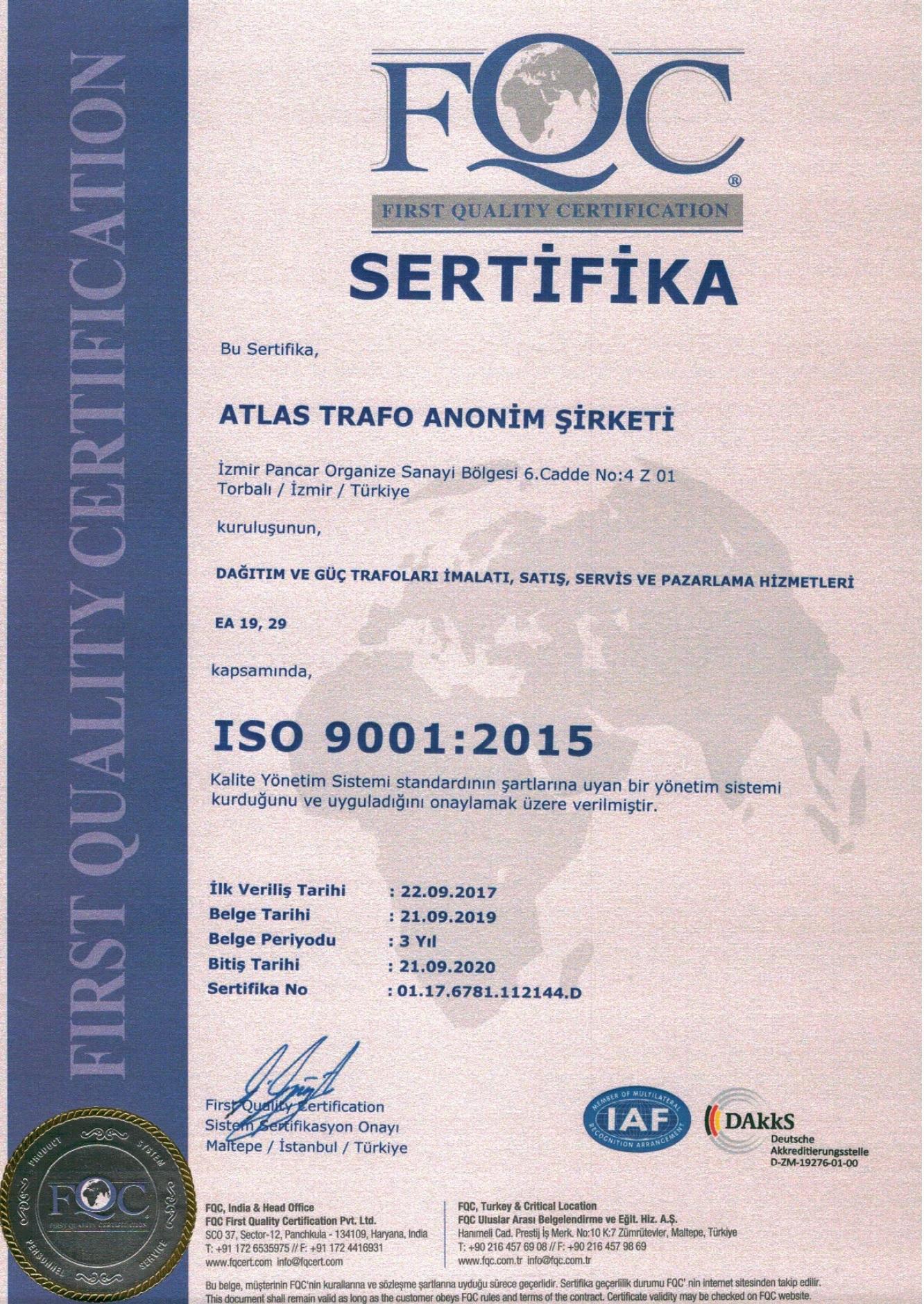 Atlas Iso 9001 2020