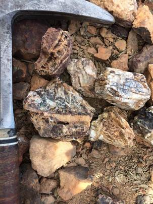 Quartz, barite, sulfide assemblages