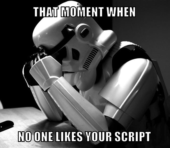 Sad Screenwriter Star Wars Meme