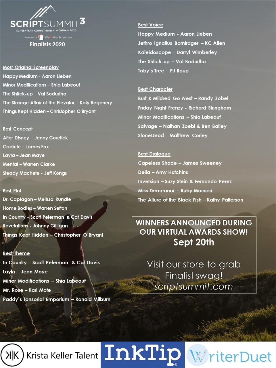Finalists 2020
