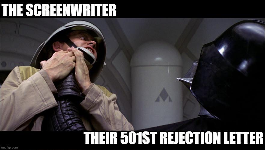 Star Wars Screenwriter Rejection Meme