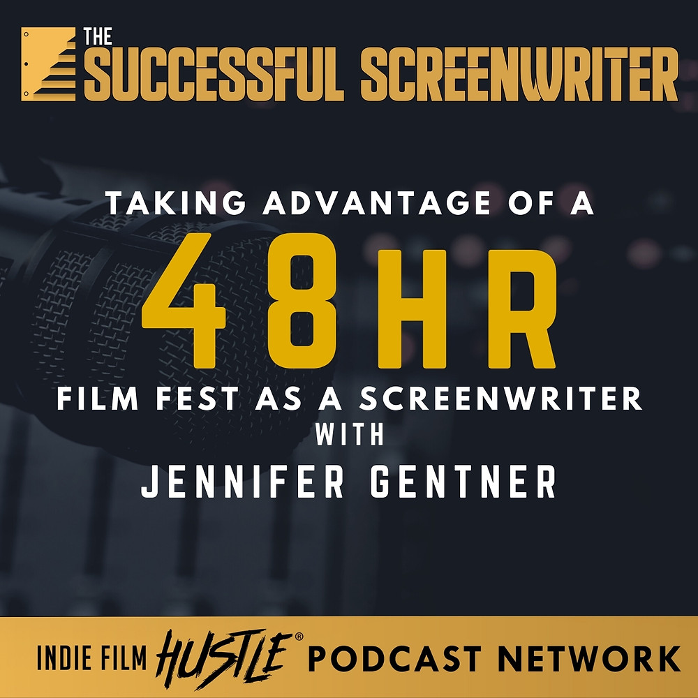 Taking Advantage of a 48hr Film Fest Screenwriting Podcast Graphic