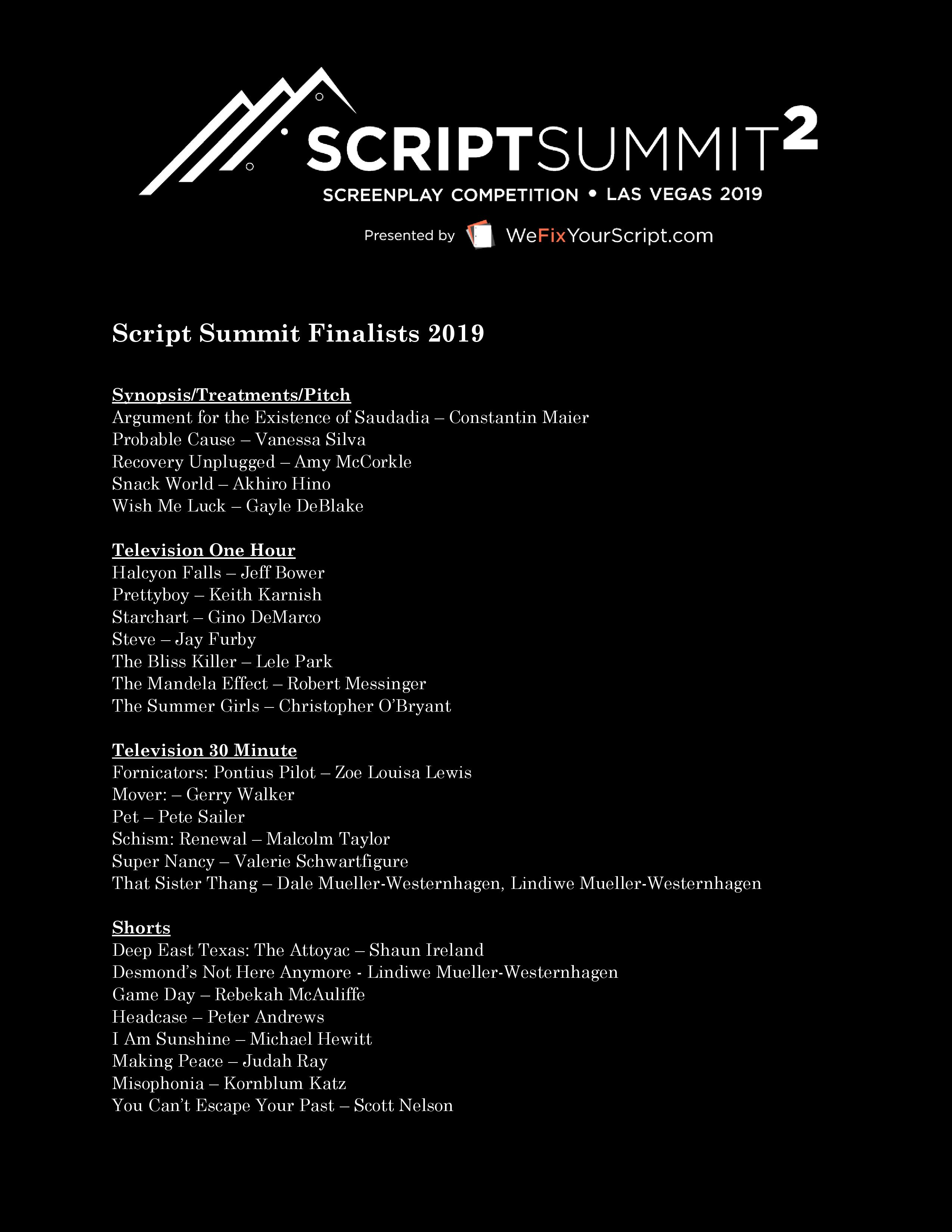 2019 Finalists Page 1