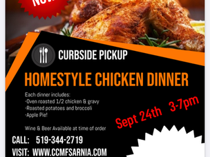 Sarnia Golf & Curling Club Curbside Chicken Dinner