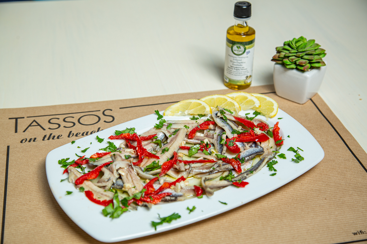 Marinated fishes with herbs