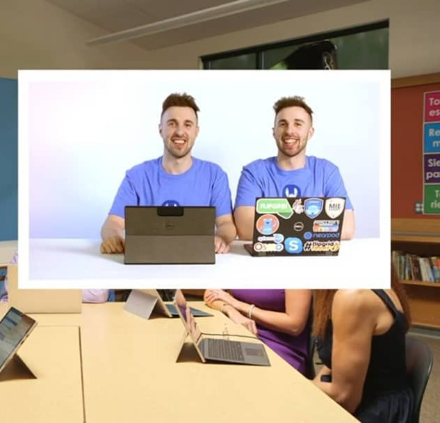The eTwinz were mentioned by Mike Tholfsen and Justin Chandon in the 2019 Microsoft Back To School event