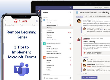 Remote Learning Series: 5 tips to rock Microsoft Teams