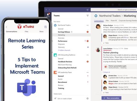 Aprendizaje remoto: 5 consejos para usar Microsoft Teams