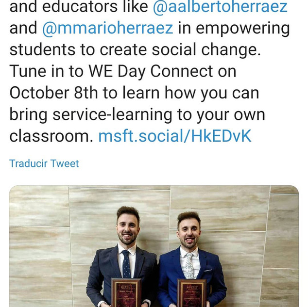 Microsoft showcased the eTwinz and their implementation of SEL in this tweet and article